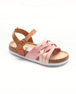 Sandales Fille - Sandale Ouverte Rose Jina - T000102 Ef