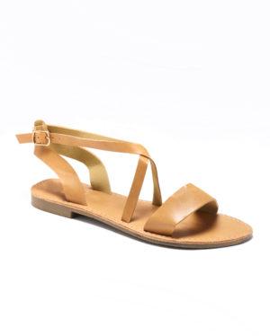 Sandales Plates Femme - Sandale Plate Camel Jina - Style 6 Zh 2021