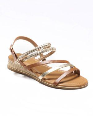 Sandales Compensées Femme - Sandale Talon Compensee Camel Jina - M20s1389-04