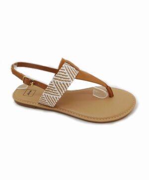 Sandales Plates Femme - Sandale Plate Camel Jina - G11301005