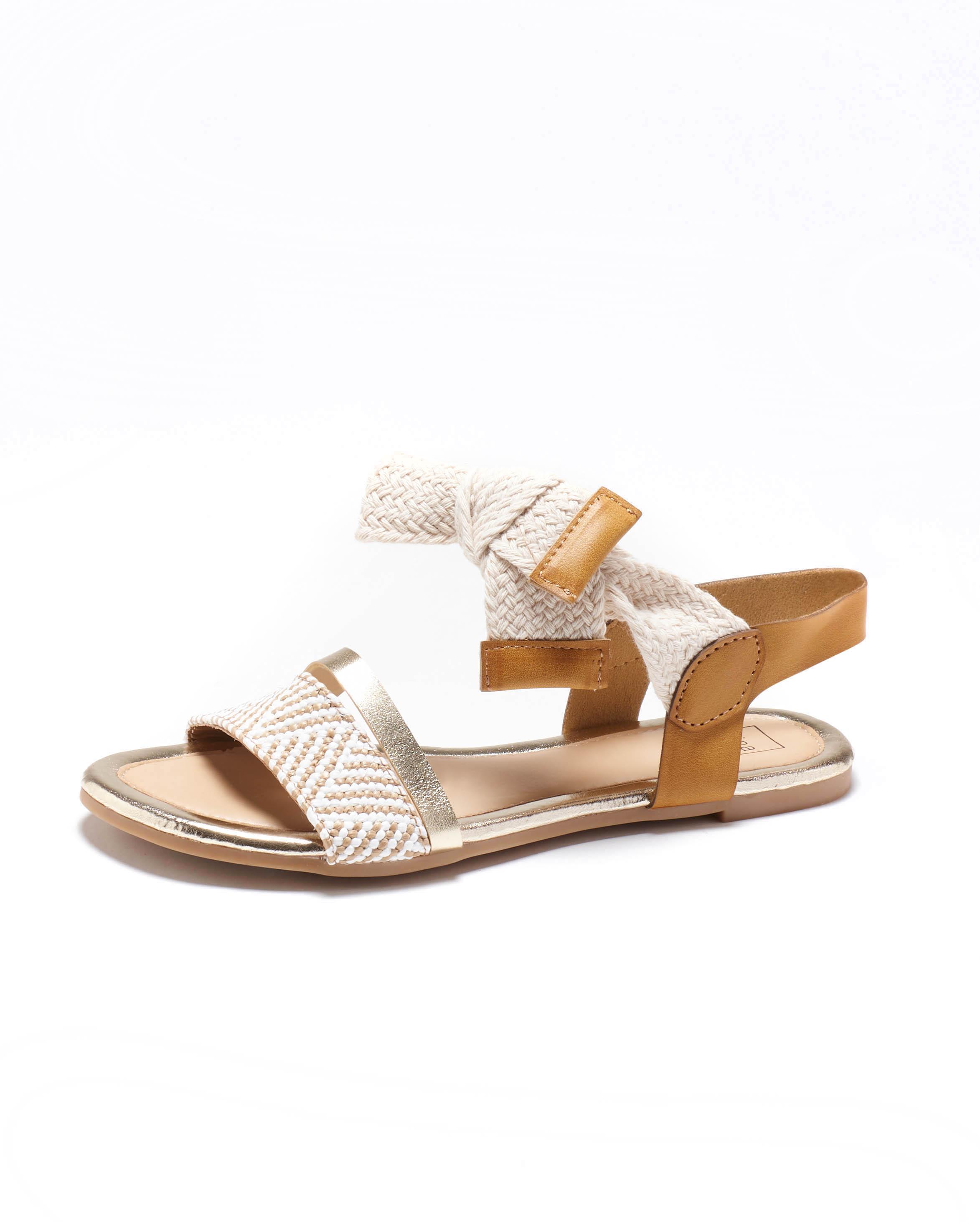 Sandales Plates Femme - Sandale Plate Camel Jina - Fs201029-02