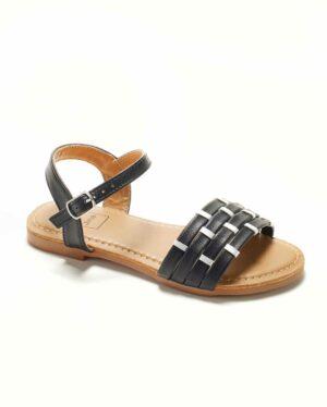 Sandales Fille - Sandale Ouverte Noir Jina - Saou Freewalk5 Jf