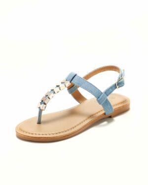 Sandales Fille - Sandale Ouverte Denim Jina - Saou Freewalk4 Jf
