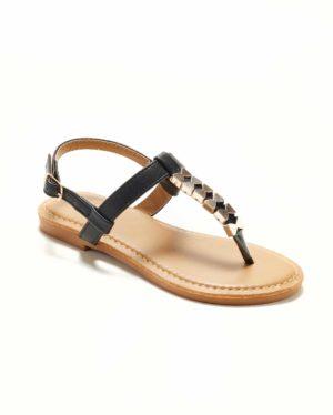 Sandales Fille - Sandale Ouverte Noir Jina - Saou Freewalk4 Jf