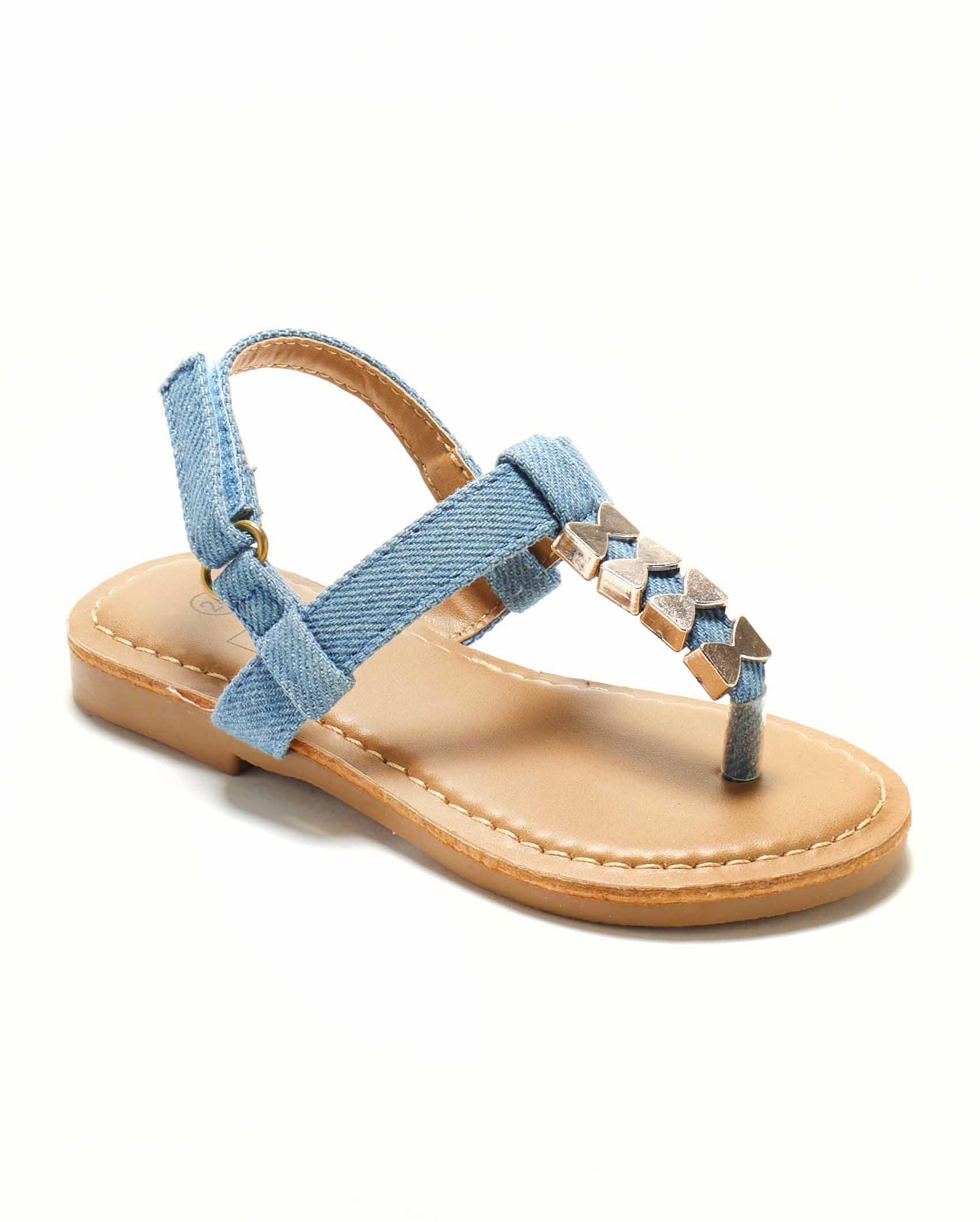 Sandales Fille - Sandale Ouverte Denim Jina - Saou Freewalk4