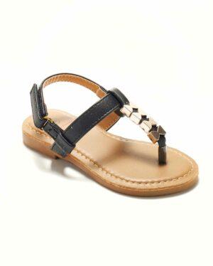 Sandales Fille - Sandale Ouverte Noir Jina - Saou Freewalk4