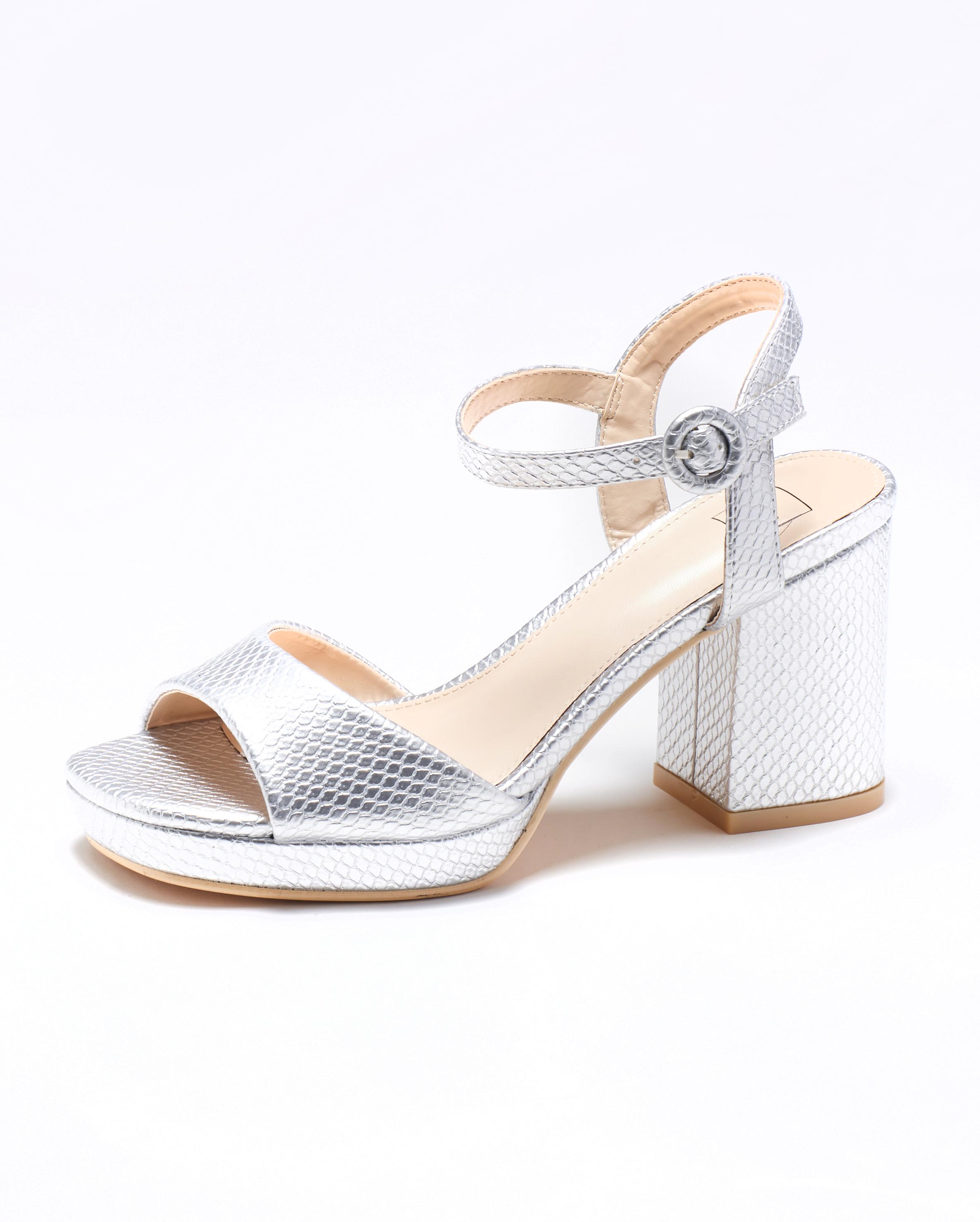 Sandales À Talons Femme - Sandale Talon Decrochee Argent Jina - M3-889300-16