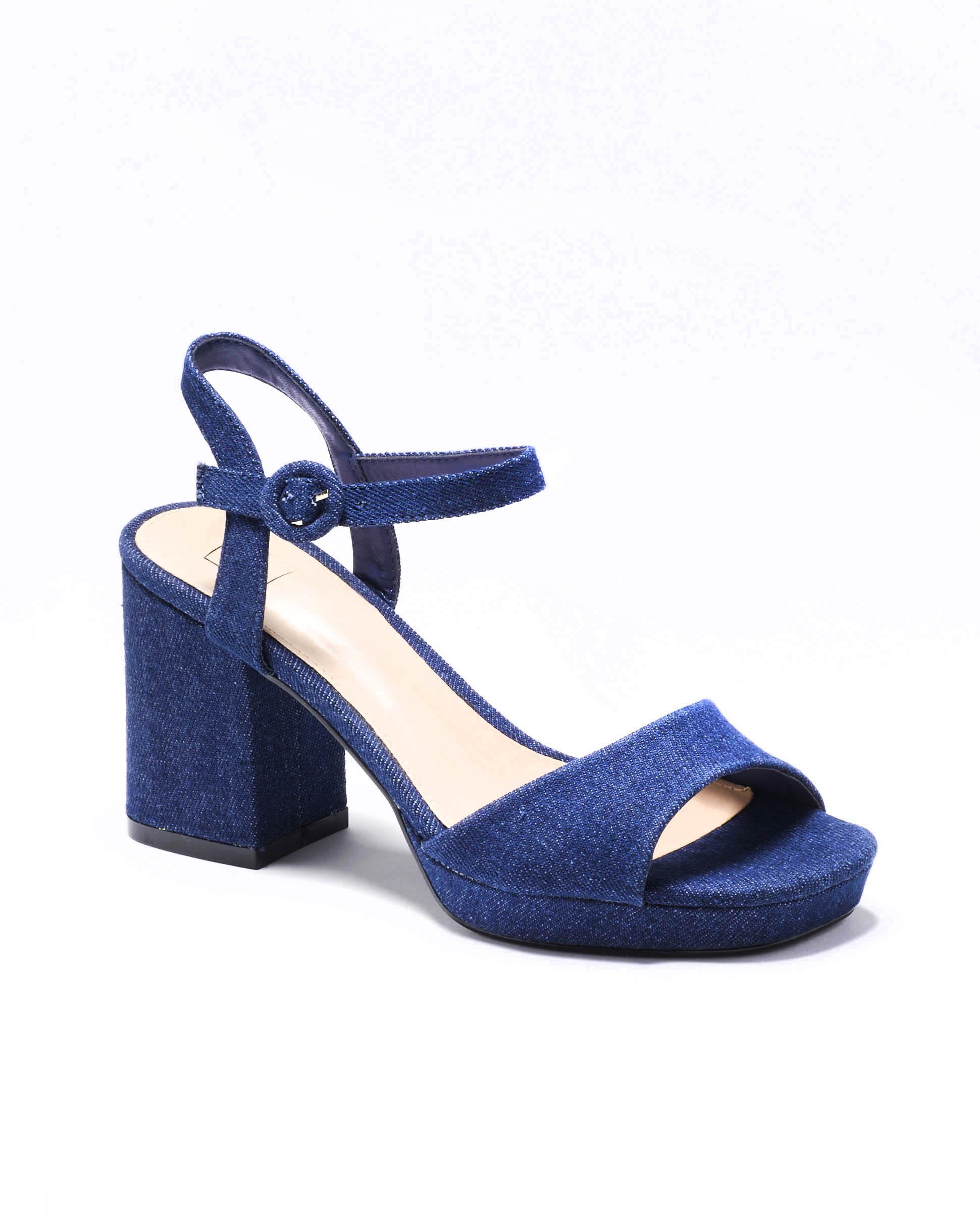 Sandales À Talons Femme - Sandale Talon Decrochee Denim Brut Jina - M3-889300-16