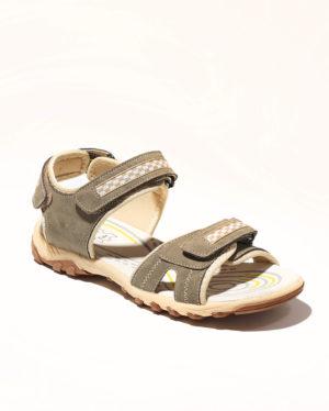 Sandales Garçon - Sandale Ouverte Beige Jina - Xdb18036 Velcro