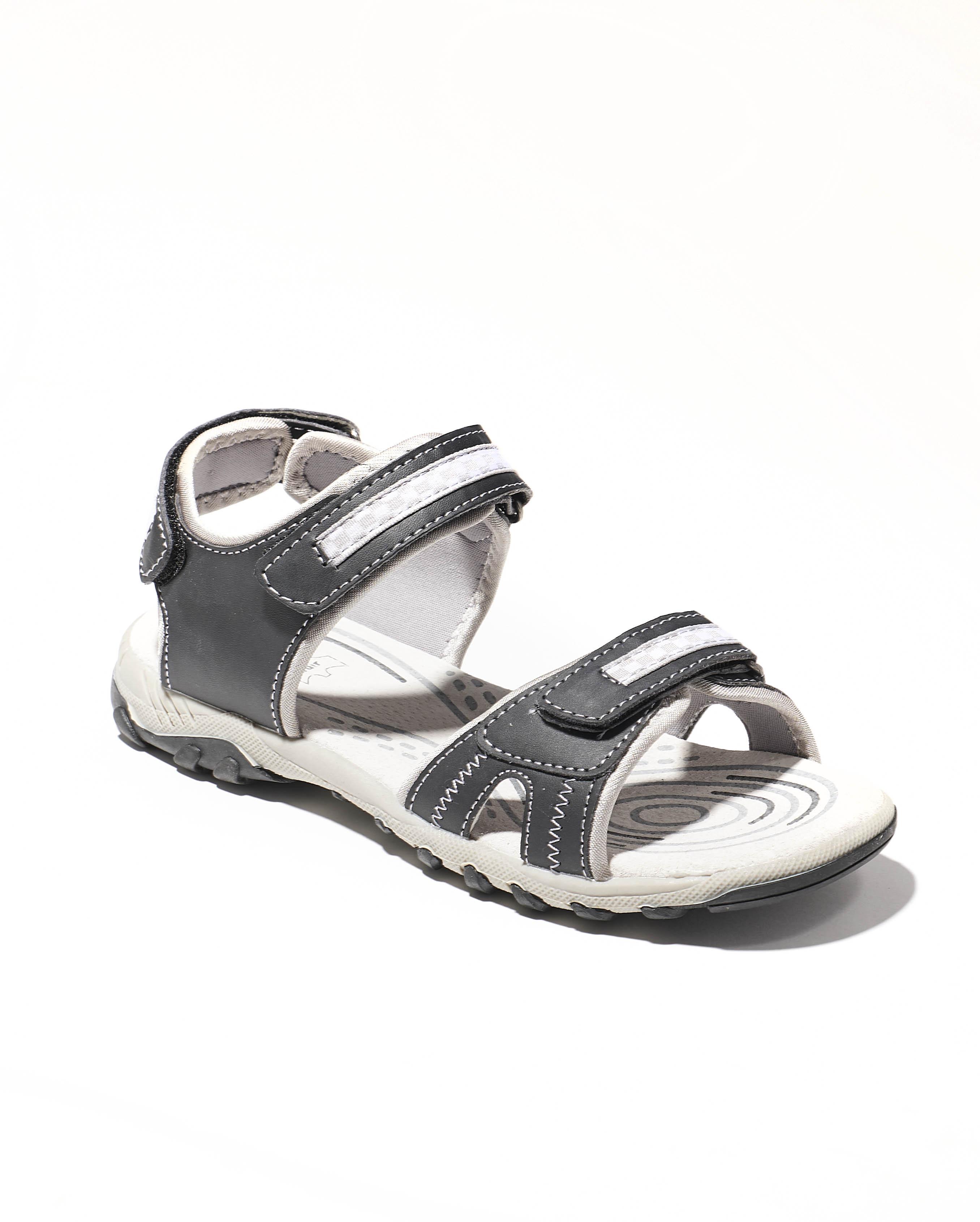 Sandales Garçon - Sandale Ouverte Noir Jina - Xdb18036 Velcro