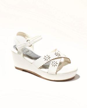 Sandales Fille - Sandale Talon Compensee Blanc Jina - Rs230-50