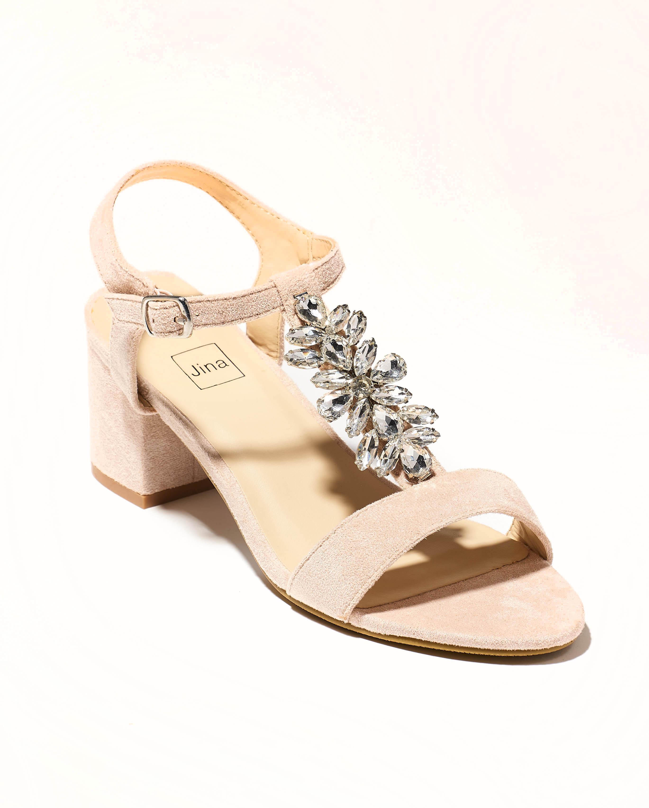 Sandales À Talons Femme - Sandale Talon Decrochee Nude Jina - Ls1682-Df5