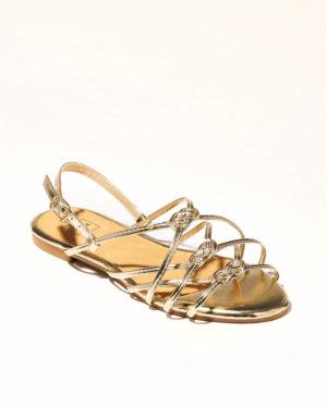 Sandales Plates Femme - Sandale Plate Or Jina - Zh1386-001