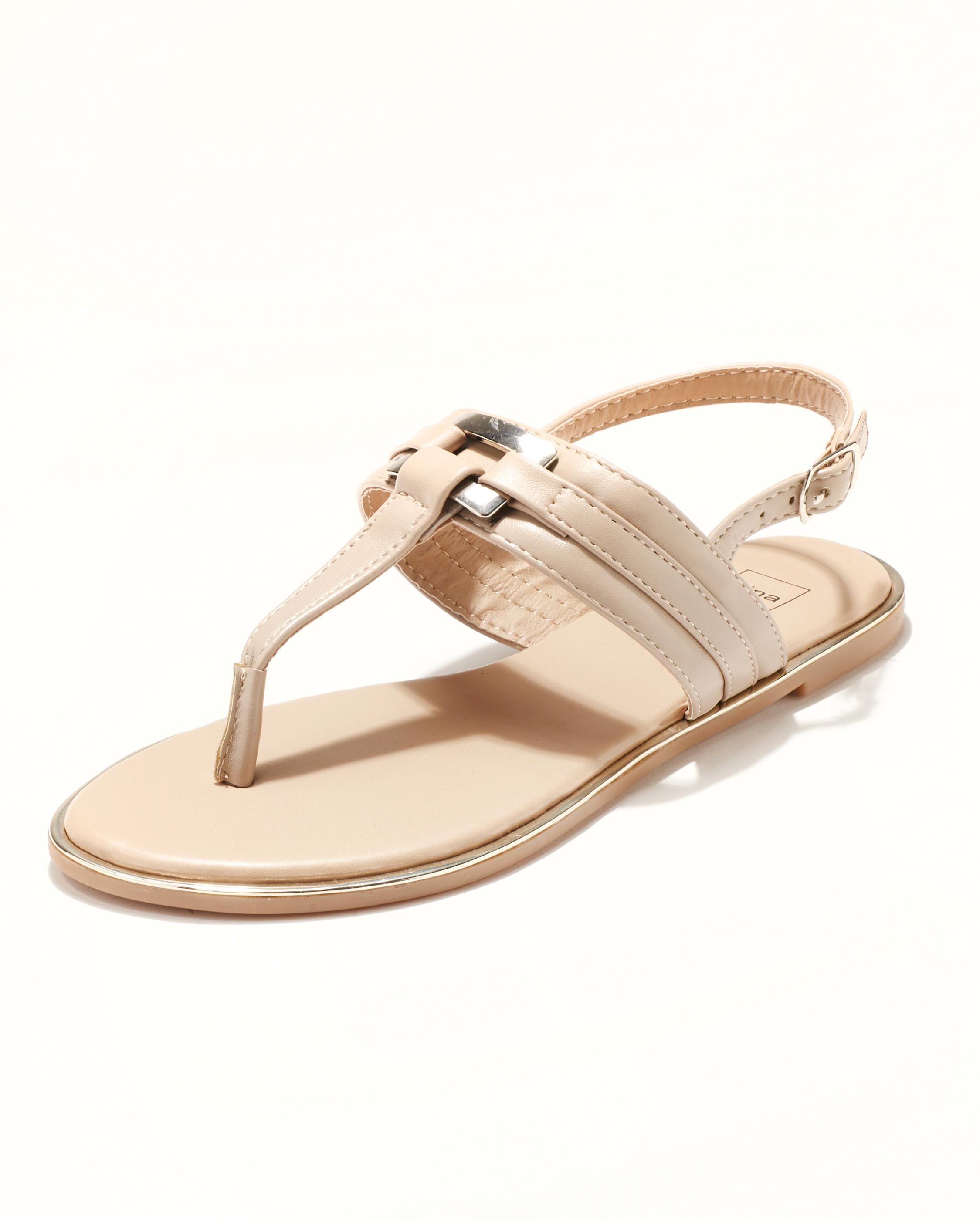 Sandales Plates Femme - Sandale Plate Nude Jina - Fs071470