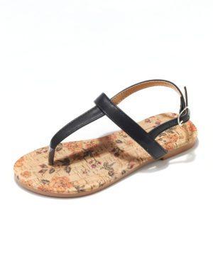 Sandales Fille - Sandale Ouverte Noir Jina - Saou Freewalk3 Jf