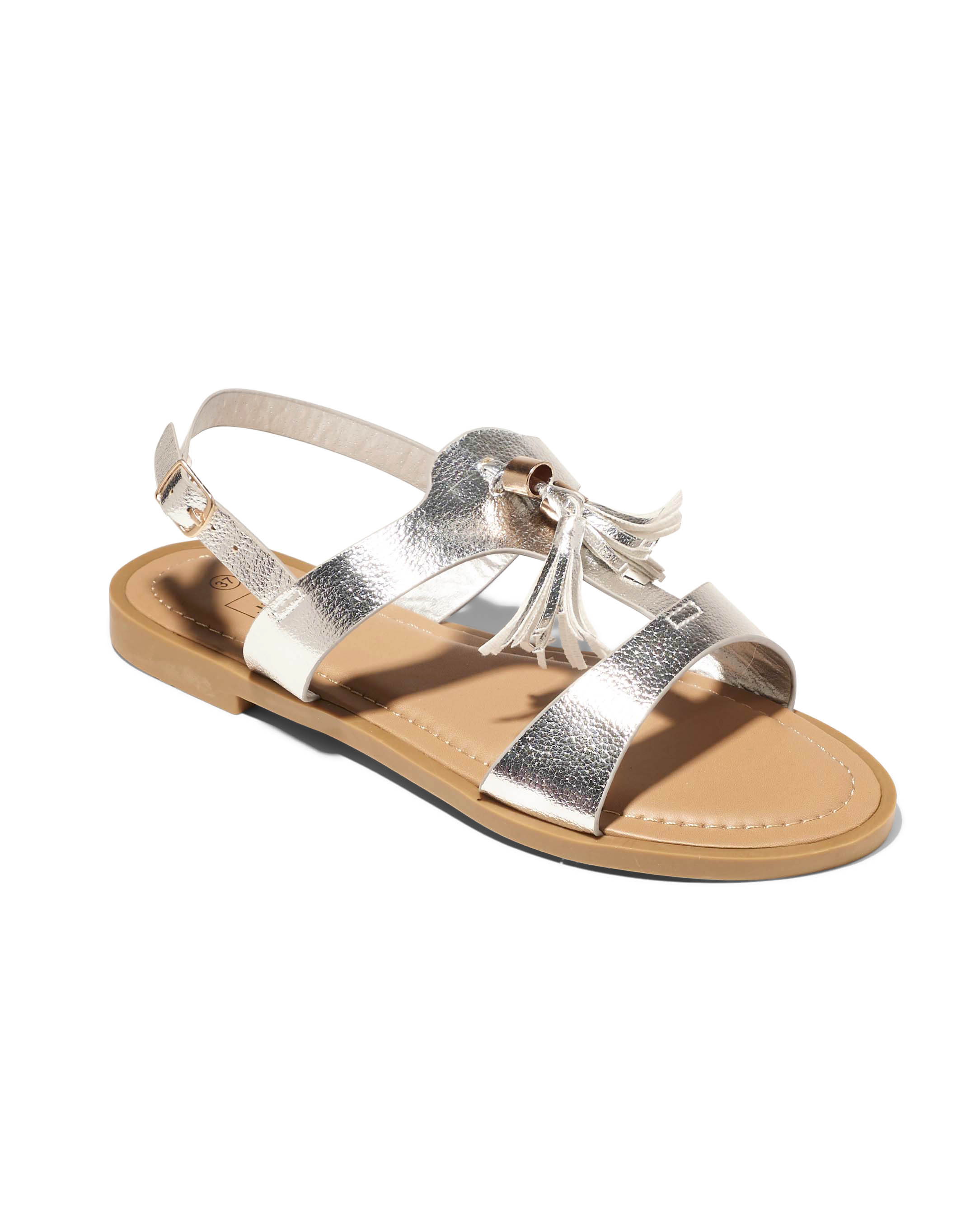 Sandales Plates Femme - Sandale Plate Argent Jina - Fwcz0705-02