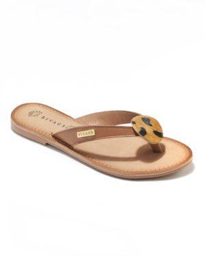 Mules Femme - Mule Plate Camel Jina - Flip Flop