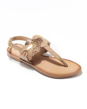 Sandales Plates Femme - Sandale Plate Camel Jina - E-01381