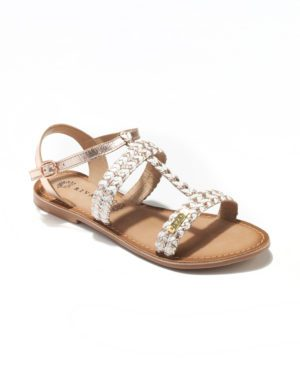 Sandales Plates Femme - Sandale Plate Blanc Jina - E-020243