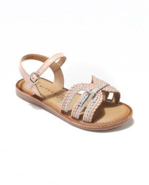 Sandales Fille - Sandale Ouverte Nude Jina - E-020974 Jf