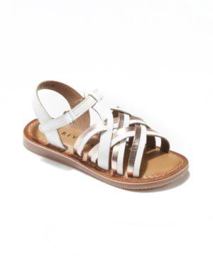 Sandales Fille - Sandale Ouverte Blanc Or Jina - E-20825