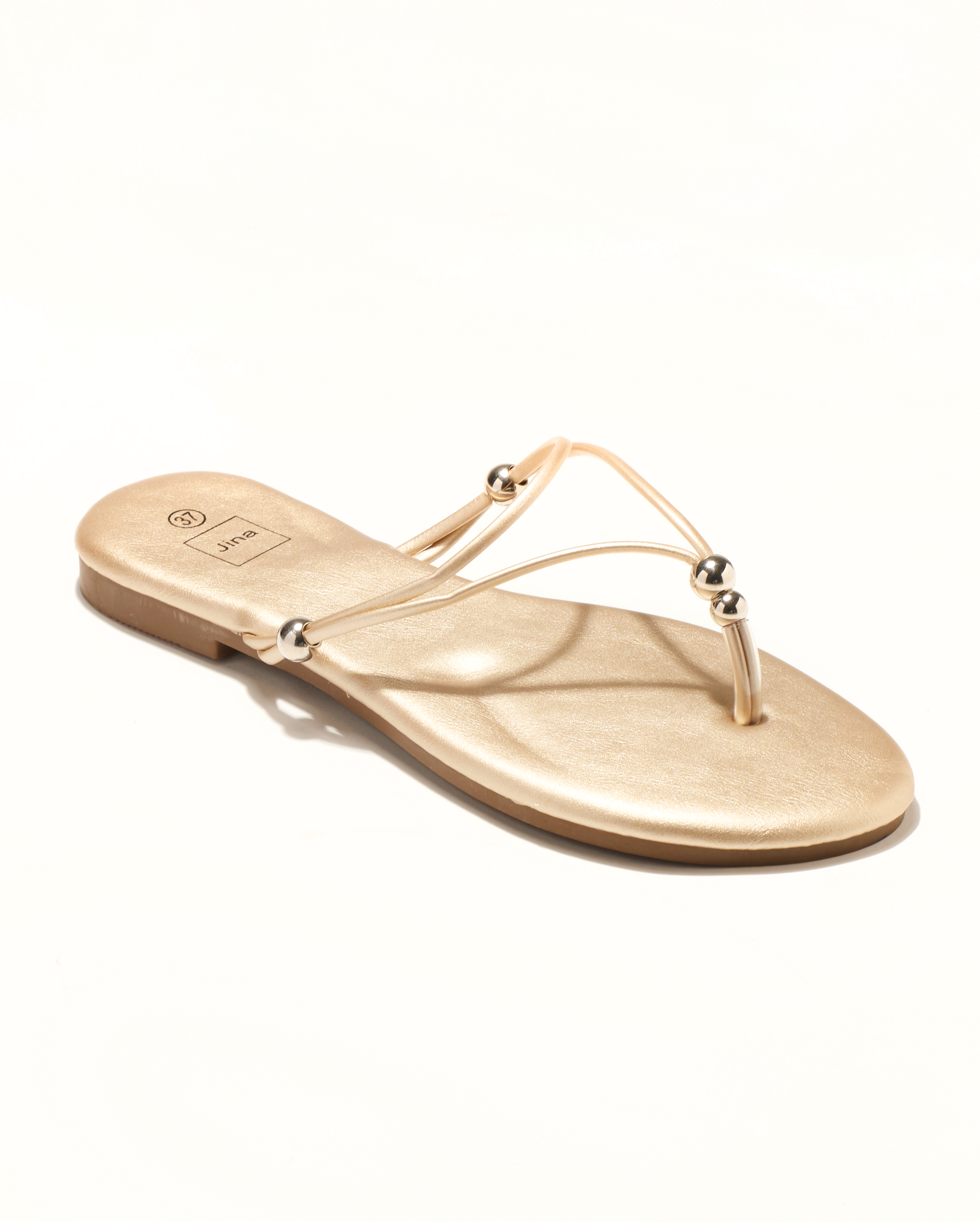 Mules Femme - Mule Plate Or Jina - Style 3 Zh P05
