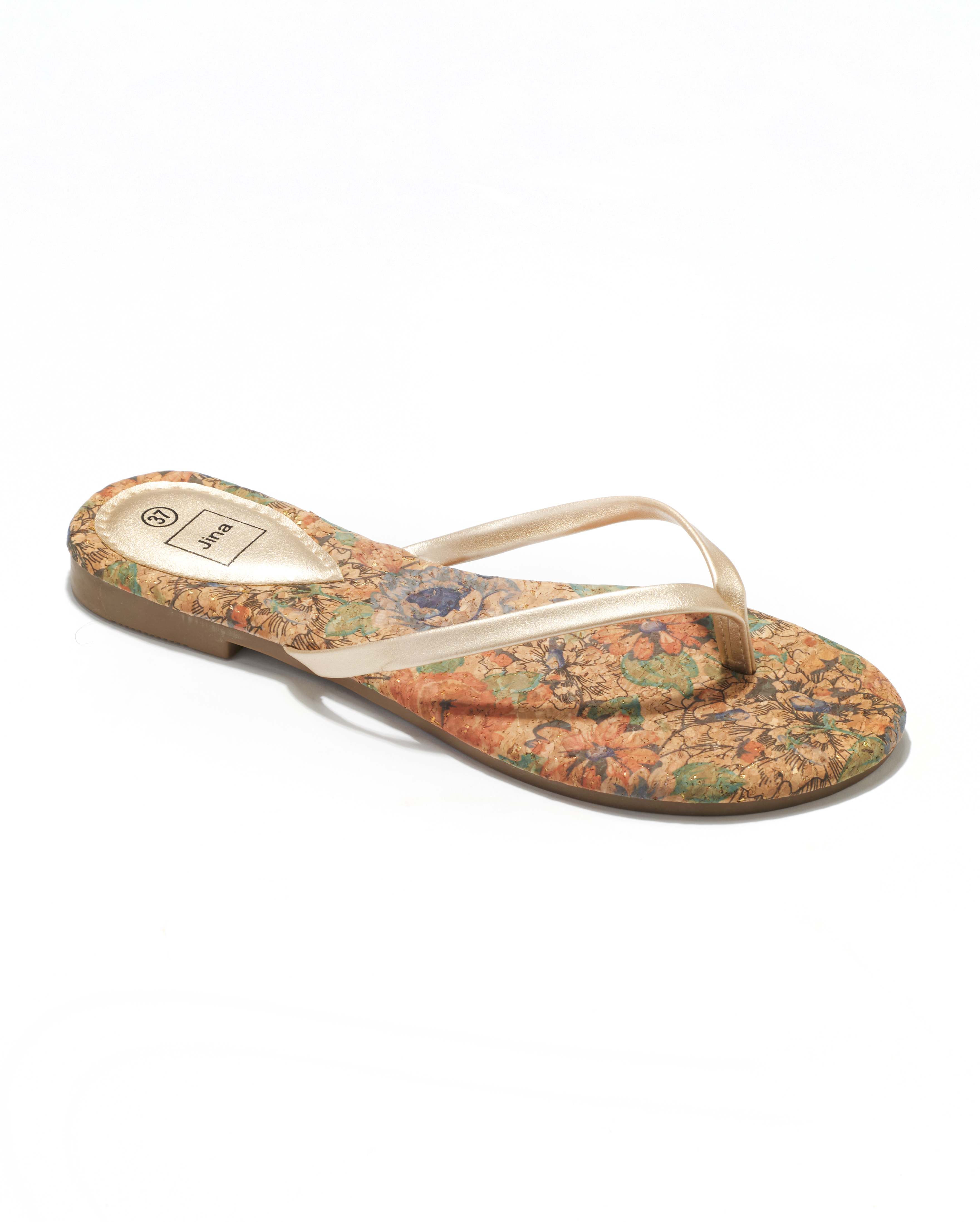 Mules Femme - Mule Plate Or Jina - Style 1 Zh P05