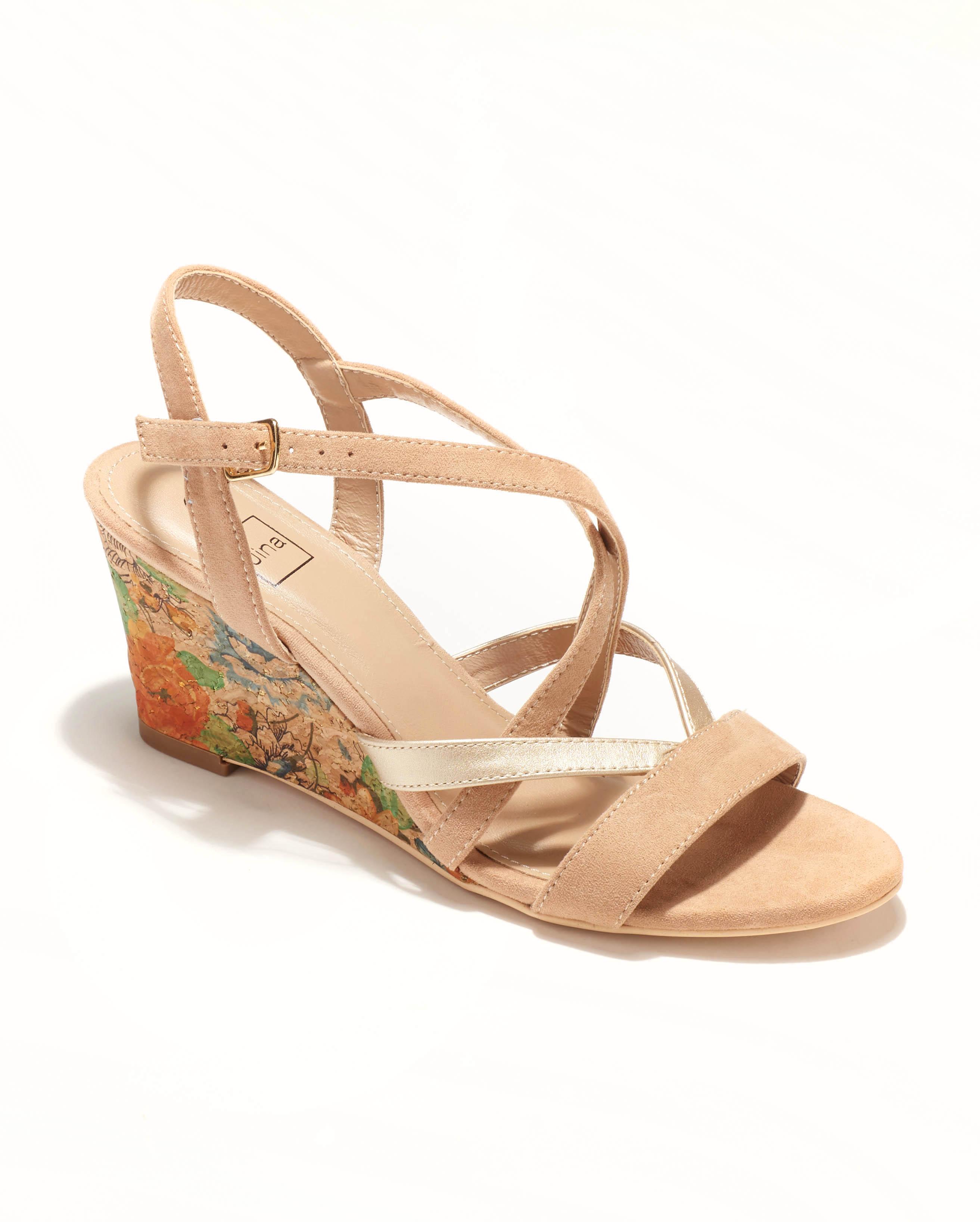 Sandales Compensées Femme - Sandale Talon Compensee Nude Jina - Sc15s-10