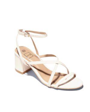 Sandales À Talons Femme - Sandale Talon Decrochee Blanc Jina - Gf8793-2