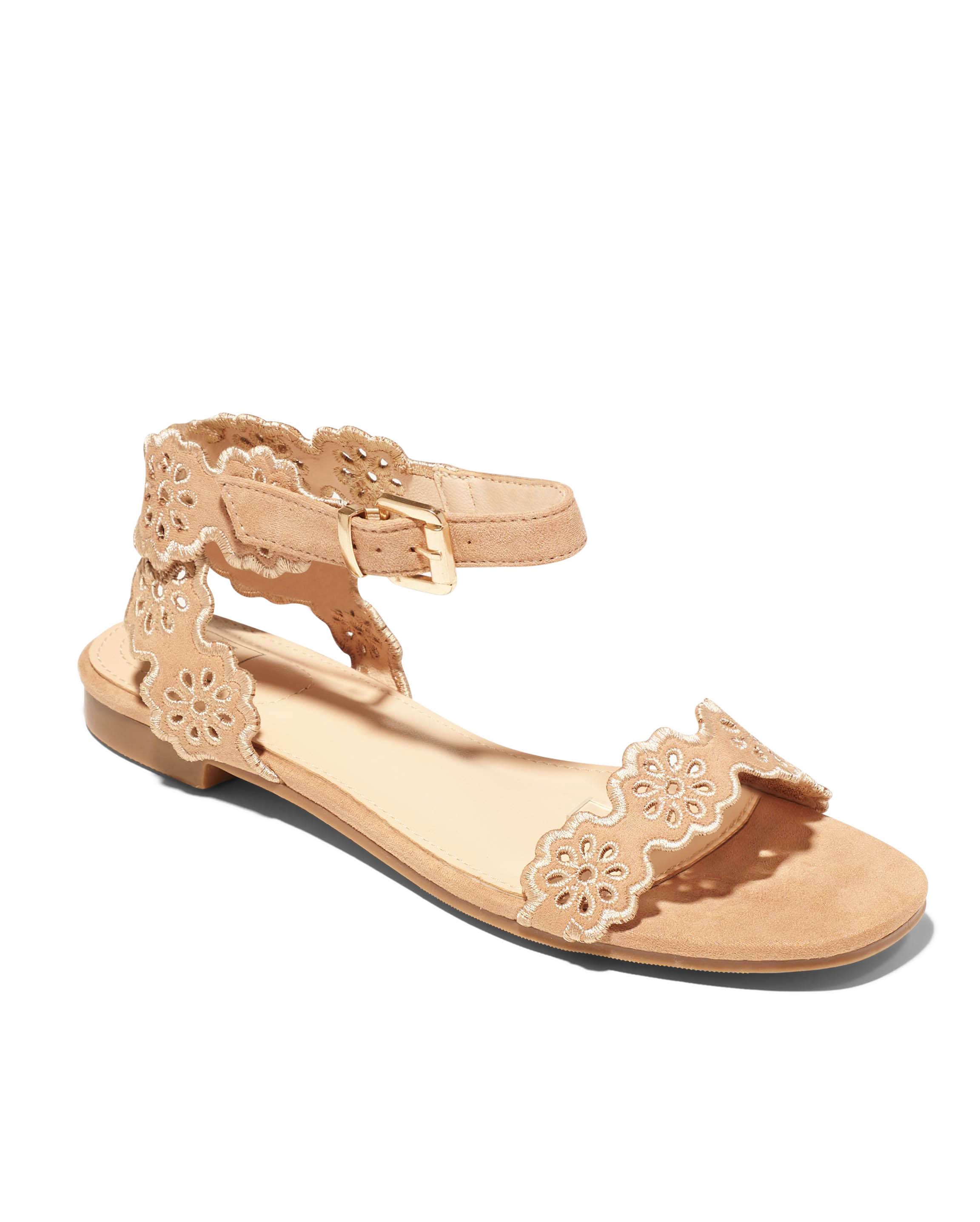 Sandales Plates Femme - Sandale Plate Nude Jina - Mgs5a-J21d