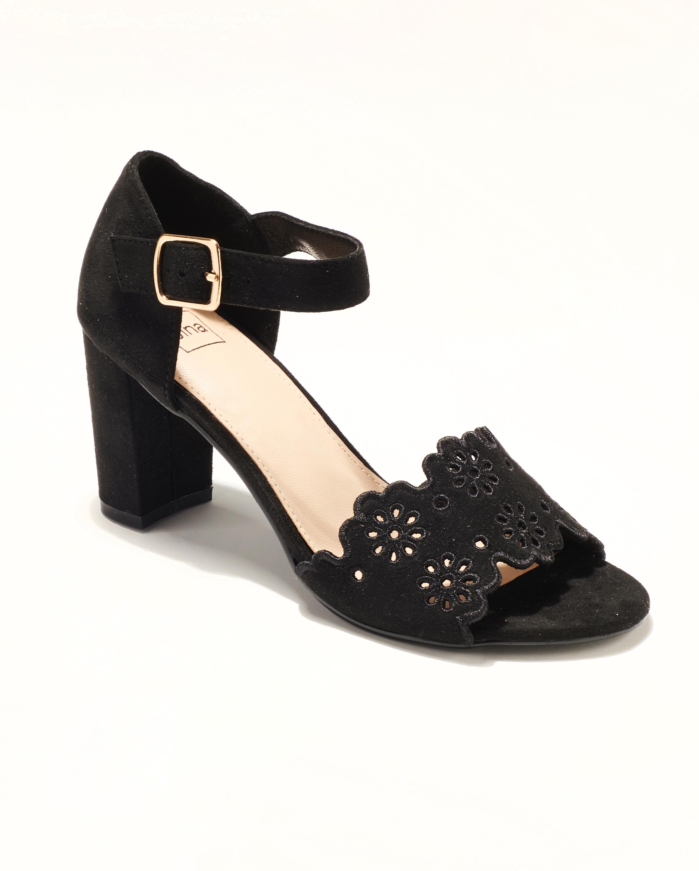 Sandales À Talons Femme - Sandale Talon Decrochee Noir Jina - Mgpt28-1-J21a