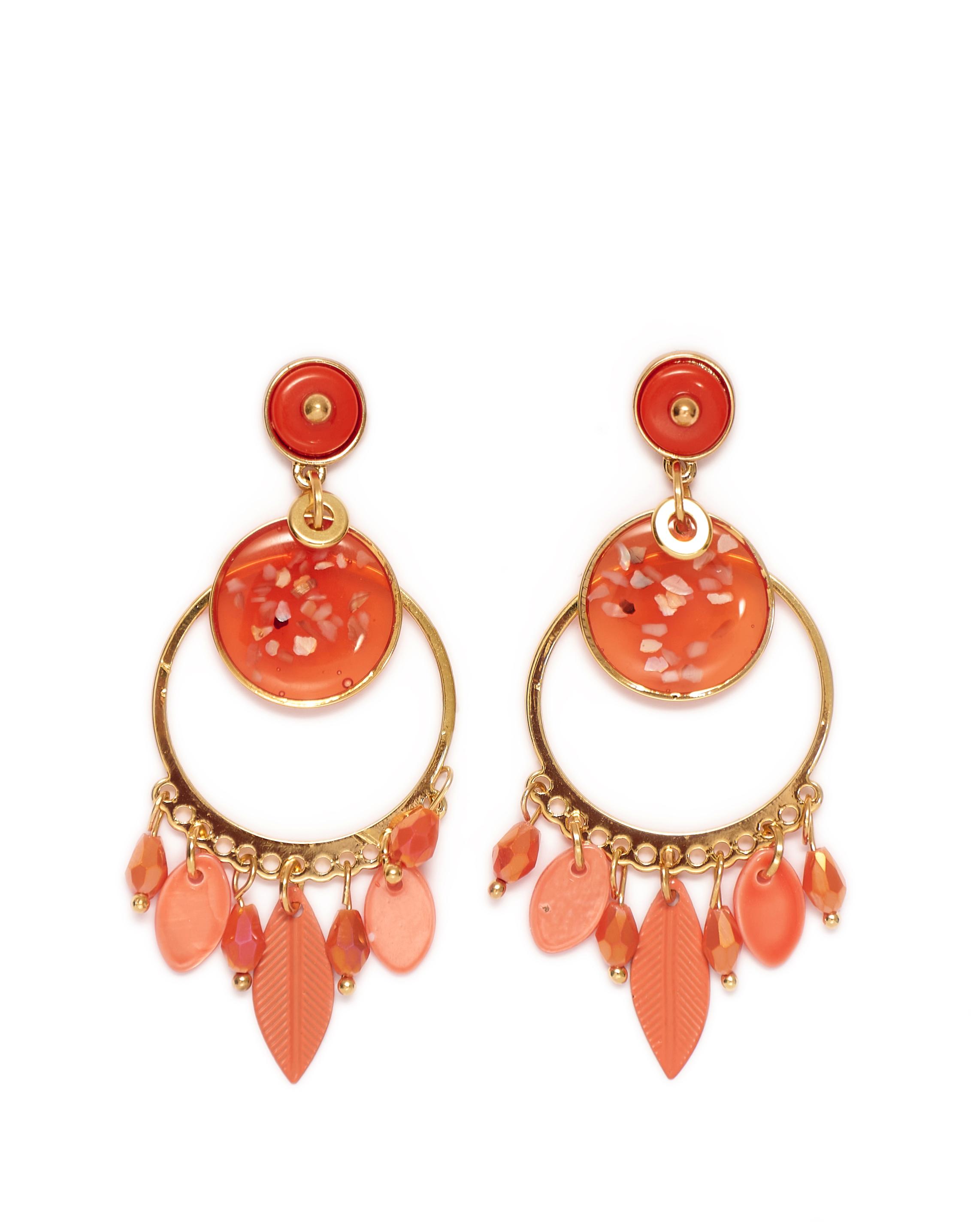 Bijoux Femme - Boucle D'Oreille Orange Jina - Bo88923