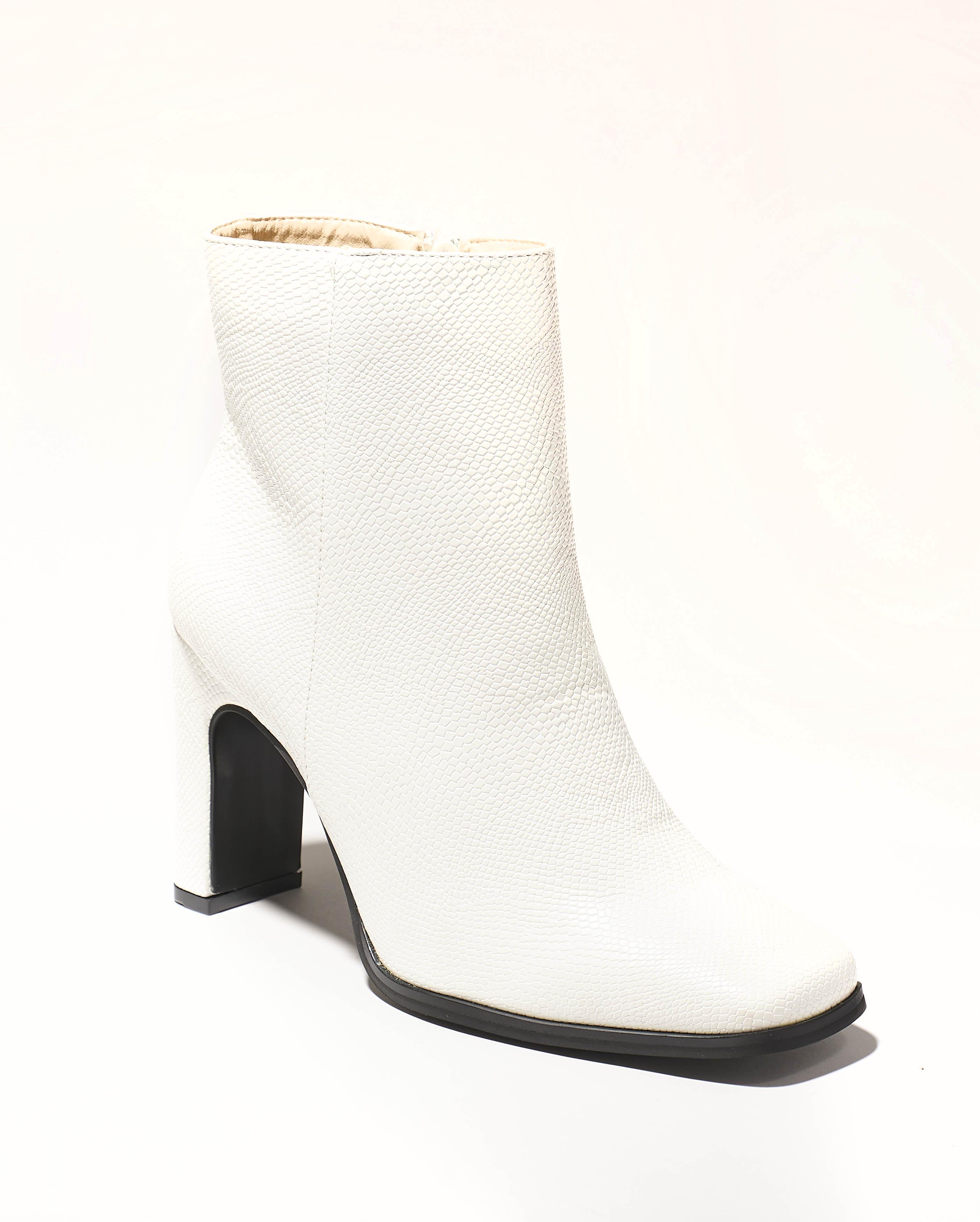 Boots Femme - Boots Blanc Jina - 9377-2