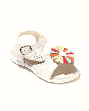 Sandales Bébé Fille - Sandale Ouverte Blanc Jina - Saou Bb Doremi1