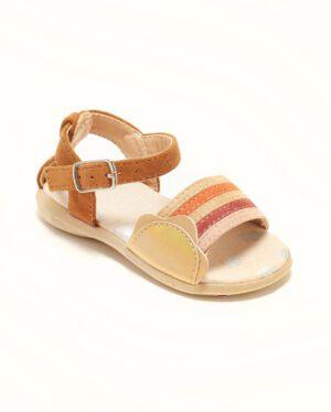 Sandales Bébé Fille - Sandale Ouverte Camel Multi Jina - Ydx0253-J1