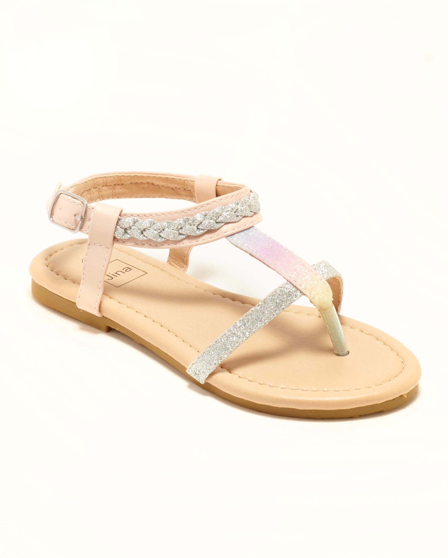 Sandales Fille - Sandale Ouverte Nude Argent Jina - Ydx021j-1 Jf