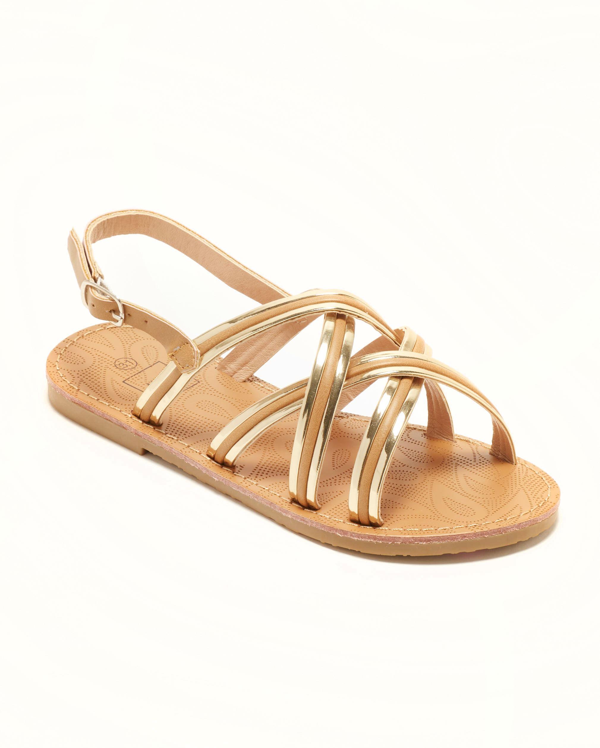 Sandales Fille - Sandale Ouverte Camel Or Jina - Ydxls23j-4 Jf