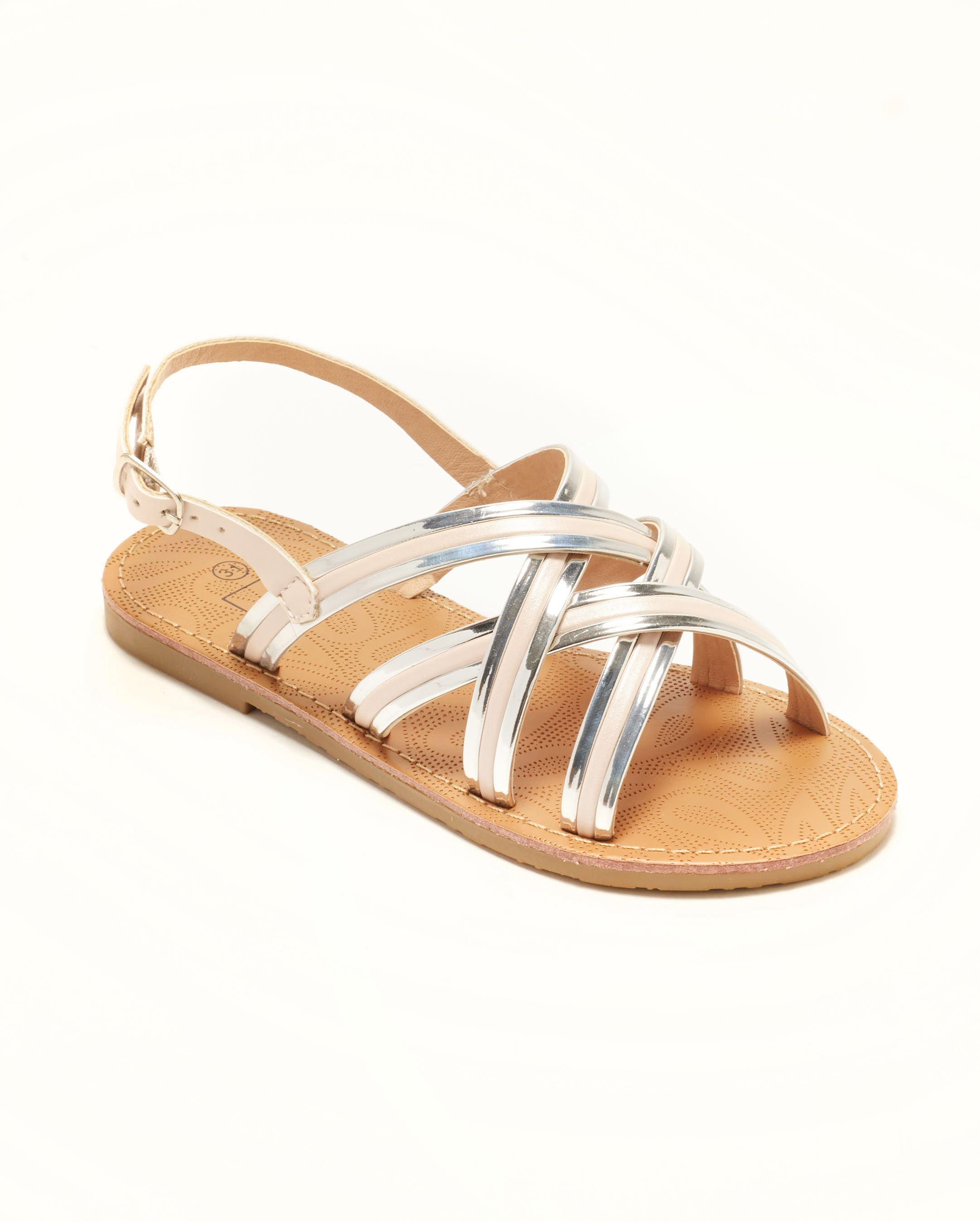 Sandales Fille - Sandale Ouverte Nude Argent Jina - Ydxls23j-4 Jf