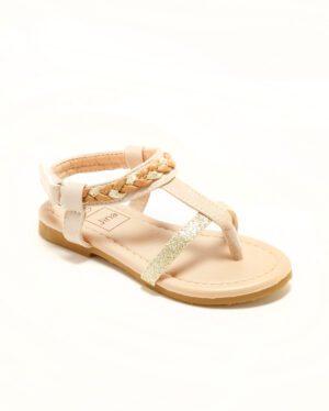 Sandales Fille - Sandale Ouverte Camel Or Jina - Ydx021j-1