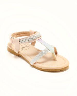 Sandales Fille - Sandale Ouverte Nude Argent Jina - Ydx021j-1