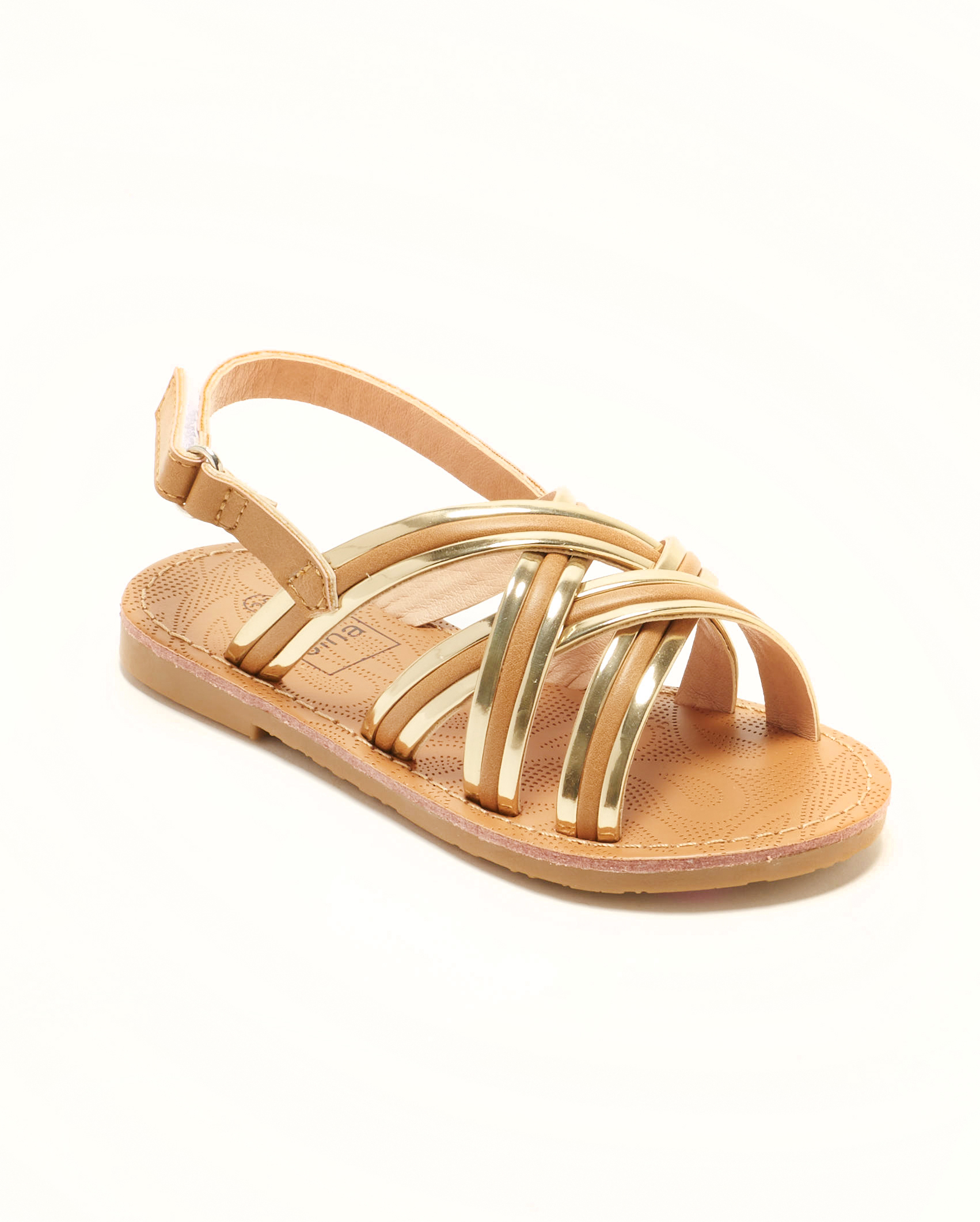 Sandales Fille - Sandale Ouverte Camel Or Jina - Ydxls23j-4