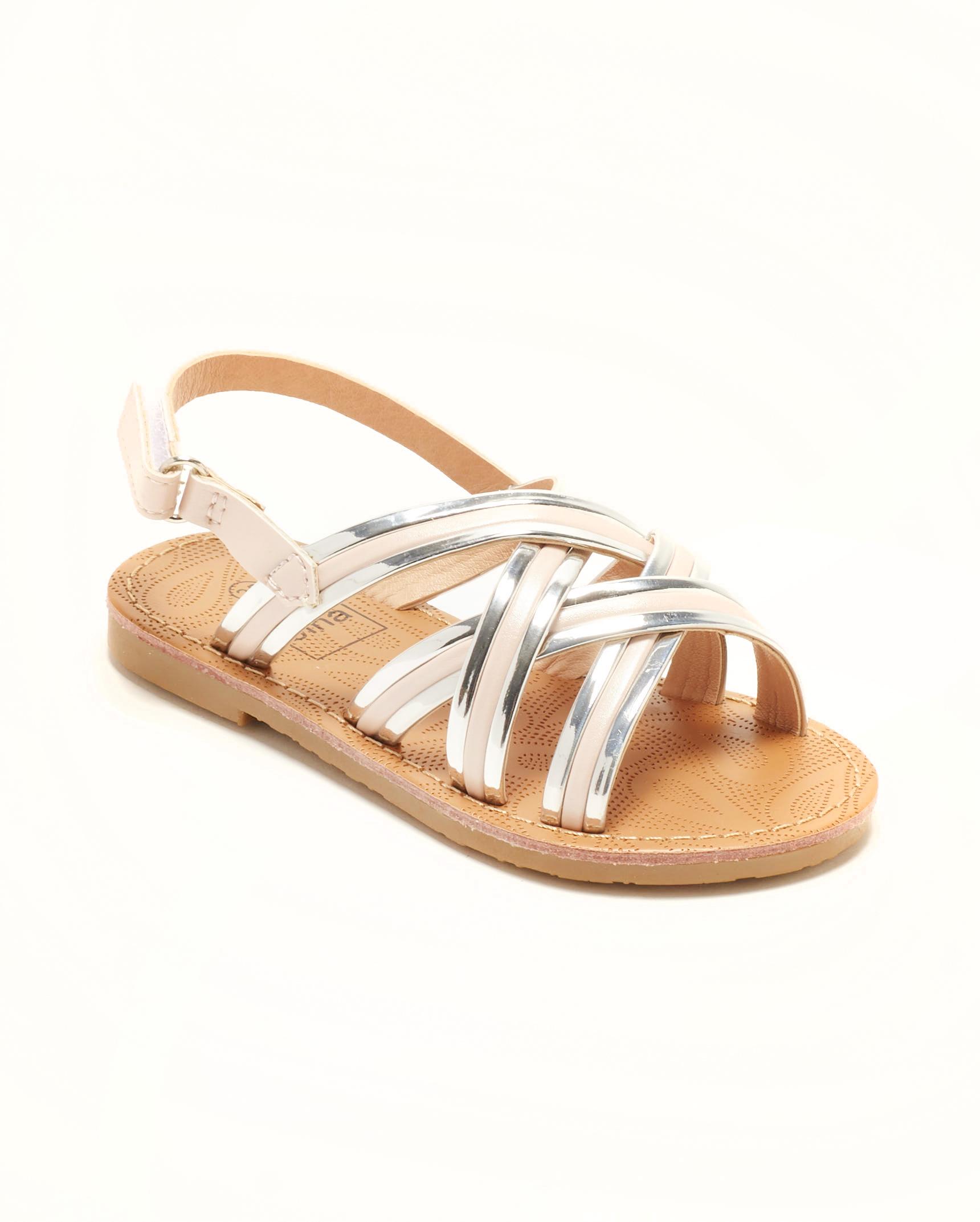 Sandales Fille - Sandale Ouverte Nude Argent Jina - Ydxls23j-4