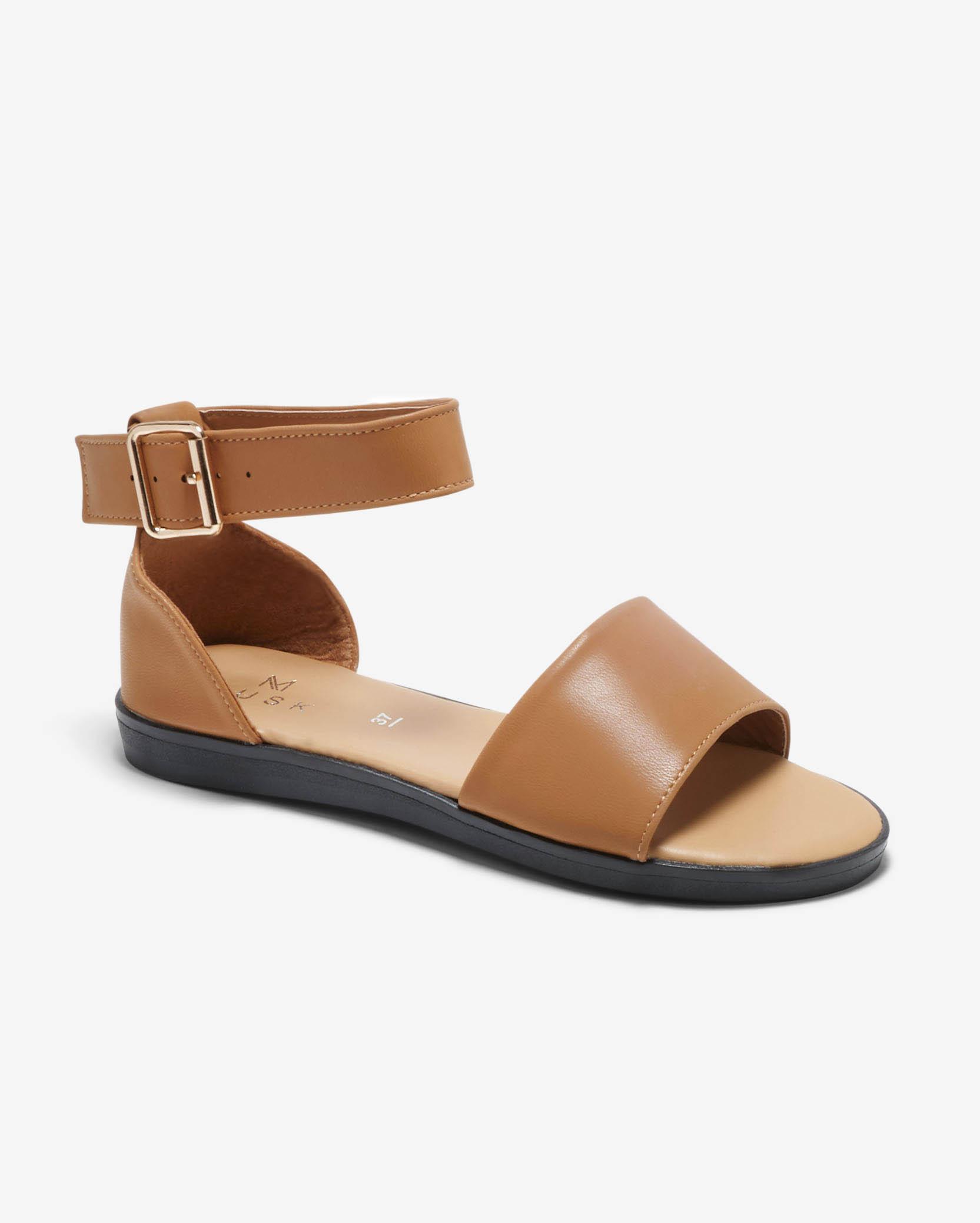 Sandales Plates Femme - Sandale Plate Beige Jina - Mus21062