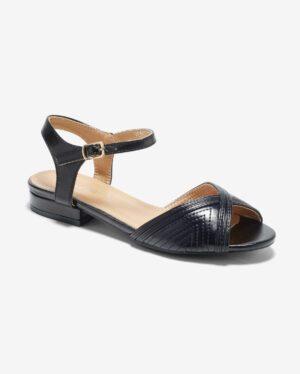 Sandales Plates Femme - Sandale Plate Noir Jina - Ve592