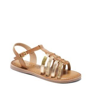 Sandales Fille - Sandale Ouverte Camel Jina - E-020976 Jf