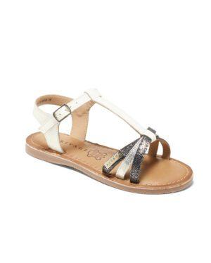 Sandales Fille - Sandale Ouverte Blanc Jina - E-020989 Jf