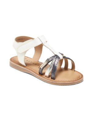 Sandales Fille - Sandale Ouverte Blanc Jina - E-020989