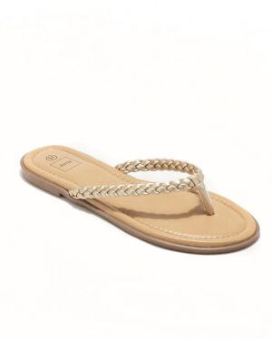 Mules Femme - Mule Plate Or Jina - Style 5 Zh P06