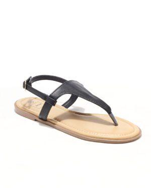 Sandales Plates Femme - Sandale Plate Noir Jina - Style 3 Zh P06