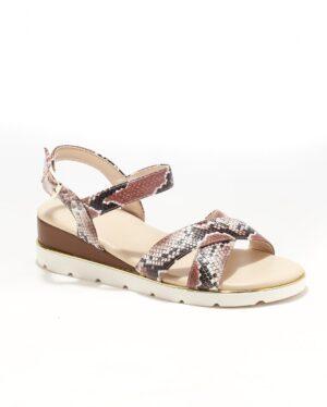 Sandales Compensées Femme - Sandale Talon Compensee Camel Jina - C5-000-1a